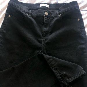 LOFT Modern Skinny Jeans with Ankle Tie